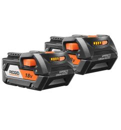 ridgid 18 volt lithium ion 4 0ah battery pack 2 pack ac840087p the home depot [ 1000 x 1000 Pixel ]