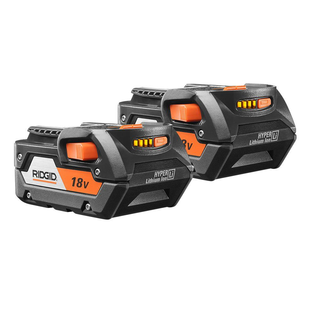 hight resolution of ridgid 18 volt lithium ion 4 0ah battery pack 2 pack ac840087p the home depot