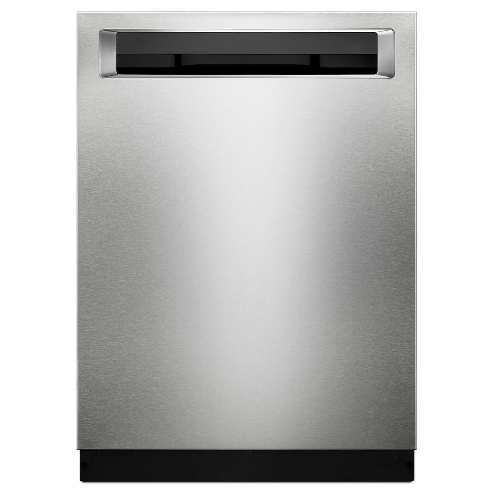 kitchen aide dishwasher countertops las vegas kitchenaid top control built in tall tub printshield stainless with third level rack