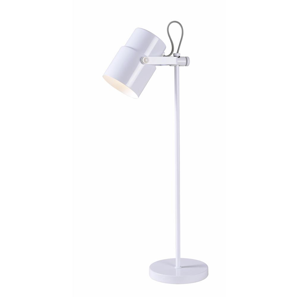 Kenroy Home Shuttle 24 in. Weathered White Desk Lamp with