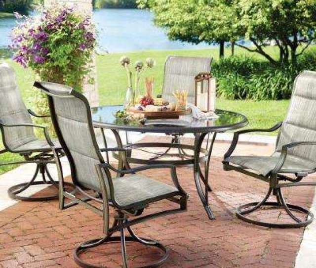 Statesville  Piece Padded Sling Patio Dining Set With  In Gltop