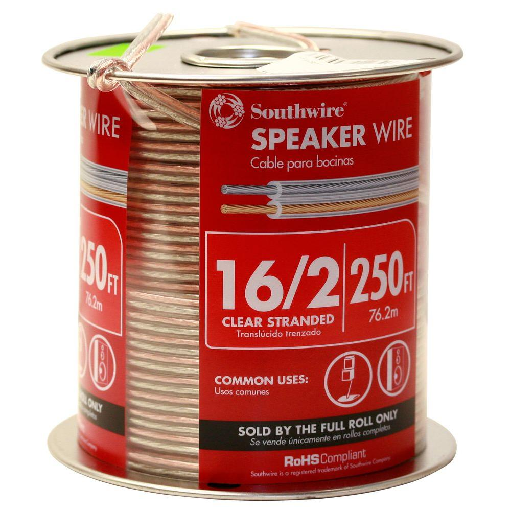 hight resolution of 16 2 clear stranded cu cl3 speaker wire