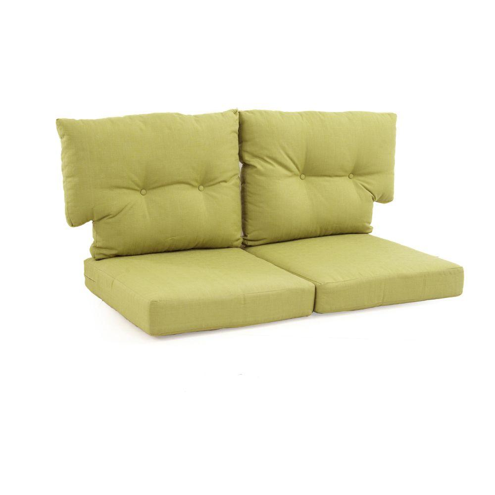 Replacement Outdoor Loveseat Cushion Pad Woven Olefin