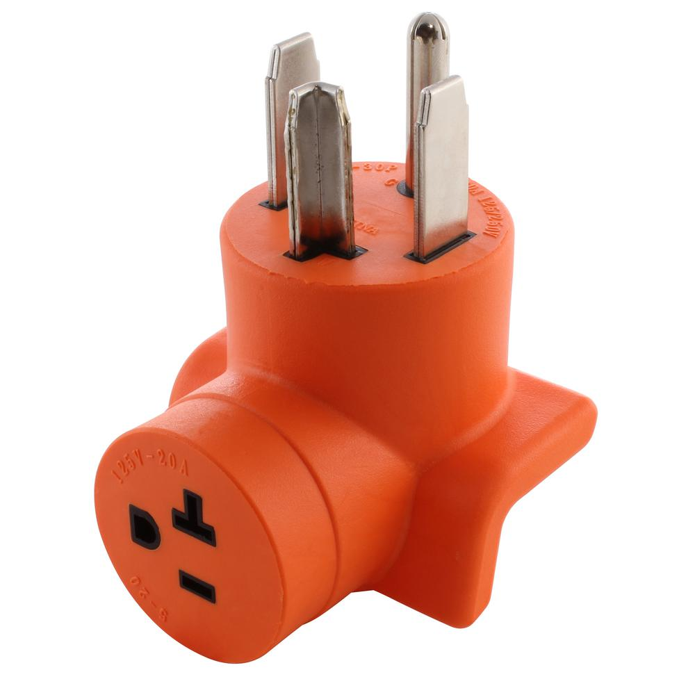 hight resolution of ac works dryer outlet adapter 4 prong dryer 14 30p plug to household 15