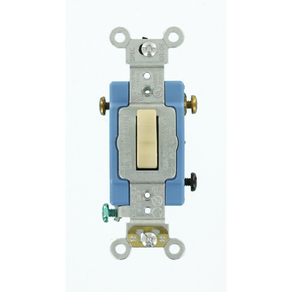 Leviton 15 20 Amp Lighted 3way Industrial Toggle Switch Clearr57