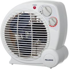 Electric Fan Heaters Simple Wiring Diagram Of Fridge Pelonis 1 500 Watt Compact Personal Portable Heater With Thermostat