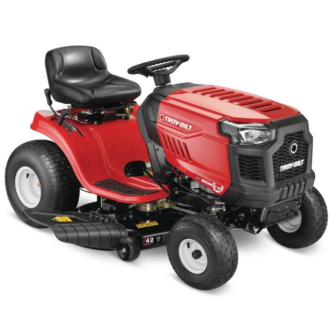 Bronco 42 in. 19 hp Automatic Drive Briggs and Stratton Gas Lawn Tractor Riding Mower with Mow in Reverse