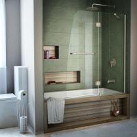 DreamLine Aqua 48 in. x 58 in. Semi-Framed Pivot Tub ...