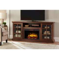 Home Entertainment Fireplace Living Room Furniture Wall Decor With Mirrors Tv Stands The Depot Freestanding Infrared Electric Stand In Burnished Walnut