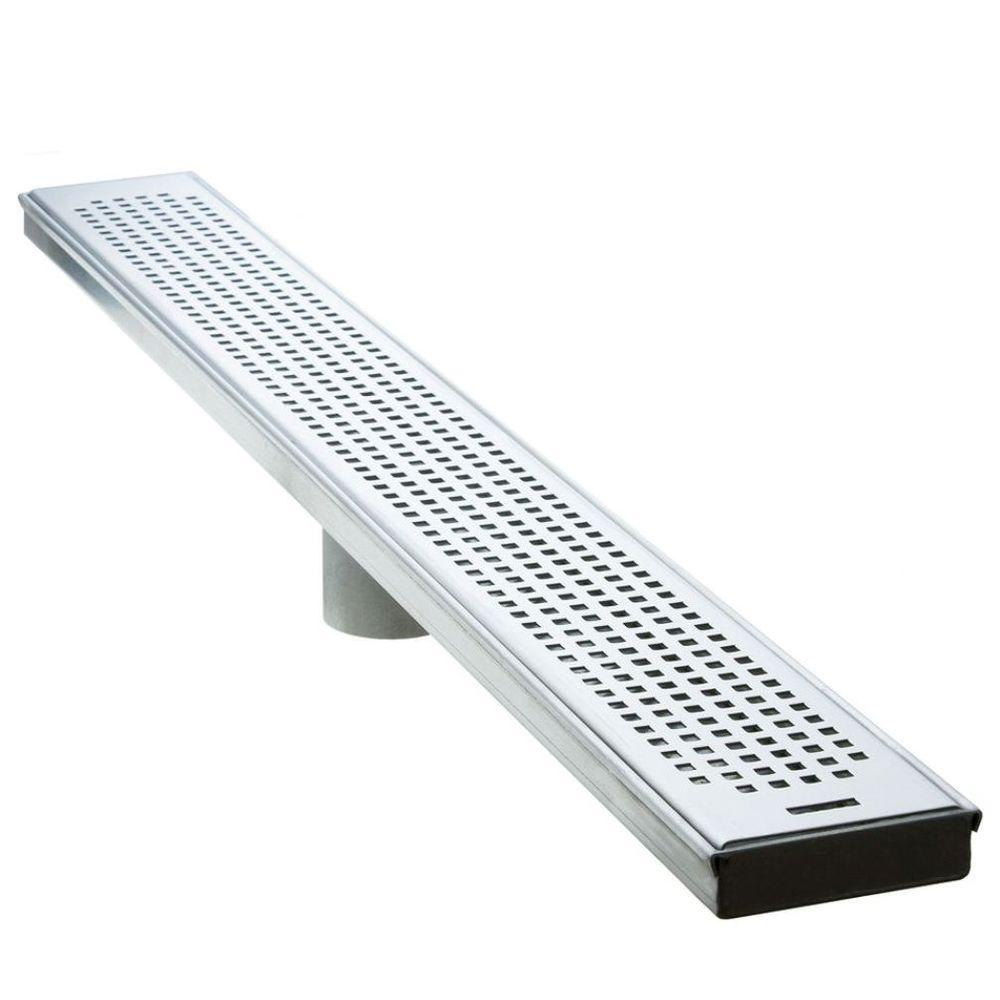 Luxe 26 in Stainless Steel Linear Shower Drain  Squares