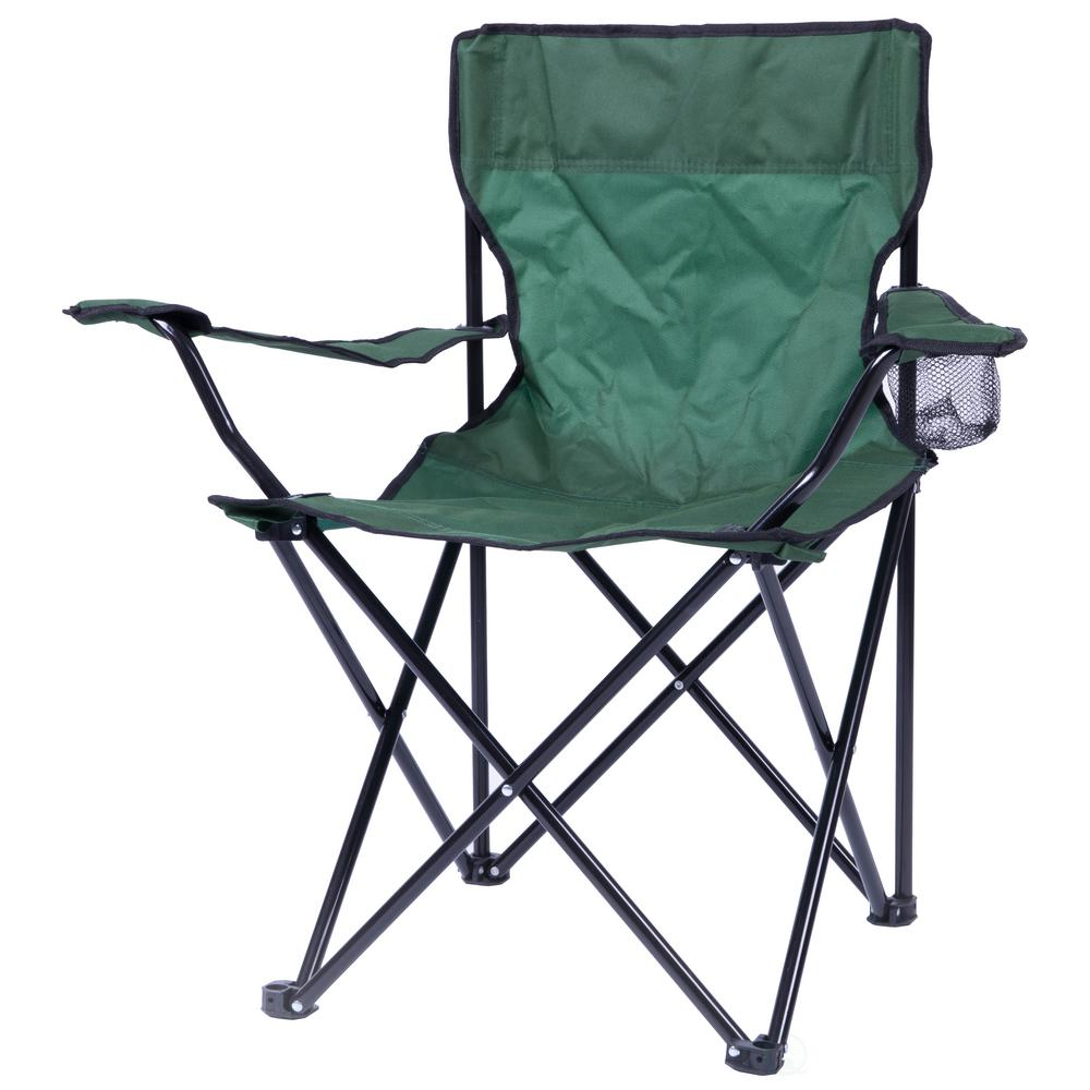 Folding Camp Chair Playberg Portable Folding Outdoor Camping Chair With Can Holder Green