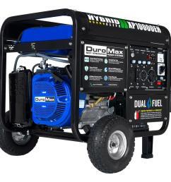 10 000 8 000 watt dual fuel powered electric start portable on tractor supply generators air compressor starter kit capacitor motor wiring diagram  [ 1000 x 1000 Pixel ]