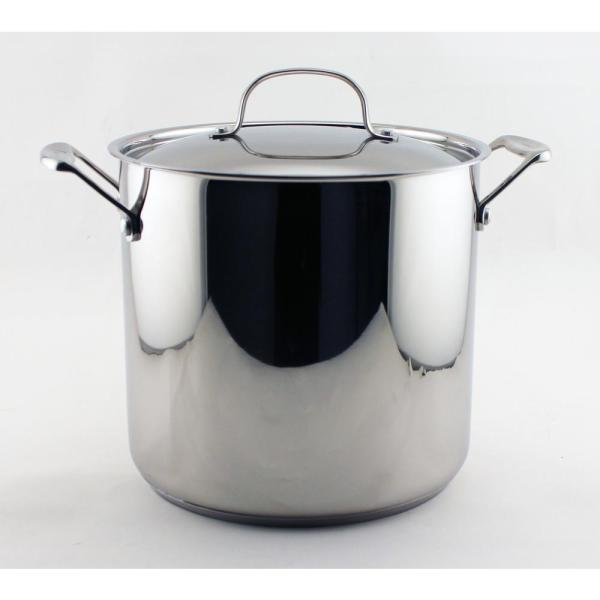Berghoff Earthchef Premium 10 Qt. 18 Stainless Steel Stockpot With Lid-2211707 - Home Depot
