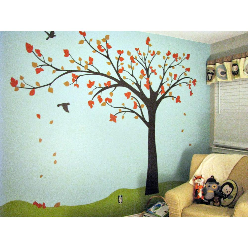 pop decors in x in big tree with love birds tree removable
