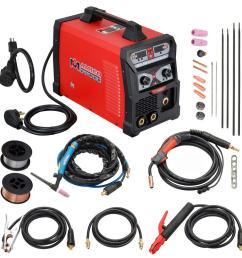 amico power 165 amp mig wire feed flux core tig torch stick arc [ 1000 x 1000 Pixel ]