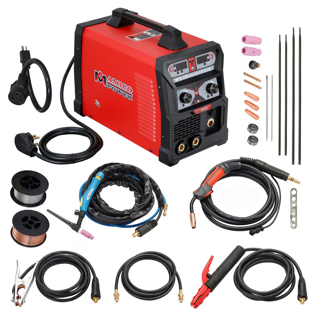 medium resolution of amico power 165 amp mig wire feed flux core tig torch stick arc