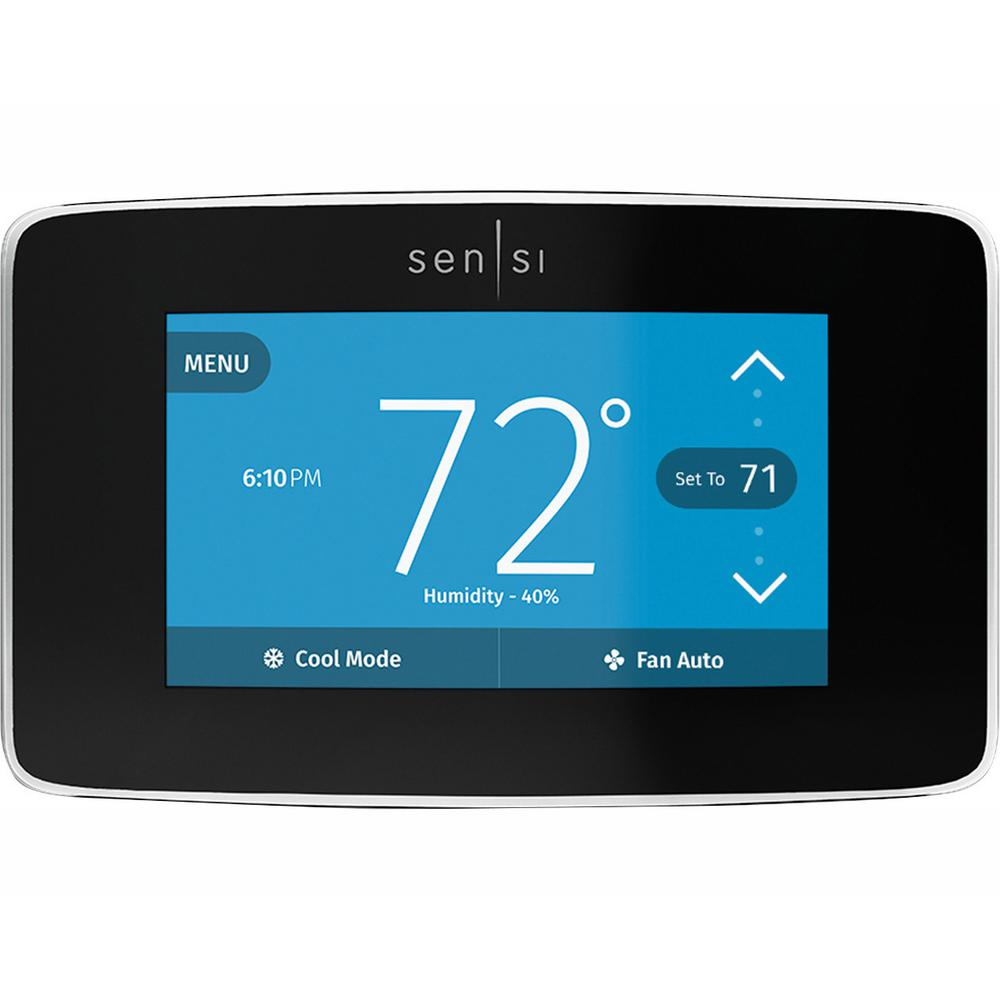 medium resolution of emerson sensi touch wi fi thermostat with touchscreen color display