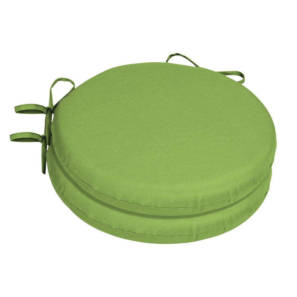 green chair cushions folding canvas chairs home decorators collection 15 x sunbrella gingko round outdoor cushion 2