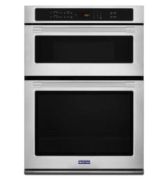 maytag 30 in electric wall oven with built in microwave in fingerprint resistant stainless [ 1000 x 1000 Pixel ]