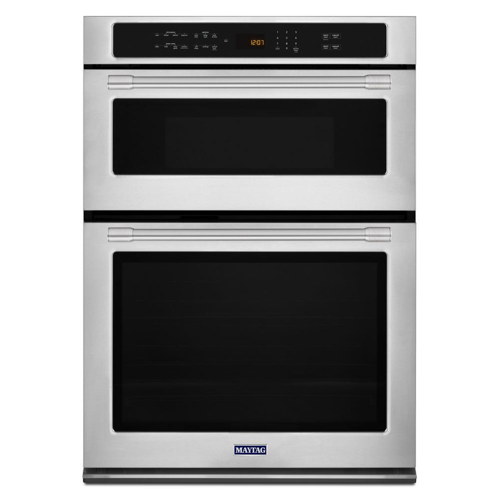 hight resolution of maytag 30 in electric wall oven with built in microwave in fingerprint resistant stainless