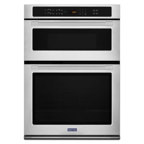 small resolution of maytag 30 in electric wall oven with built in microwave in fingerprint resistant stainless