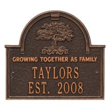 Family Tree Anniversary Wedding Personalized Arched Plaque