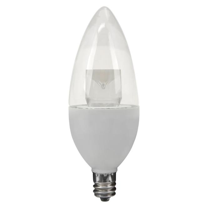 15w Equivalent Daylight B10 Candelabra Non Dimmable Led Light Bulb 6 Pack