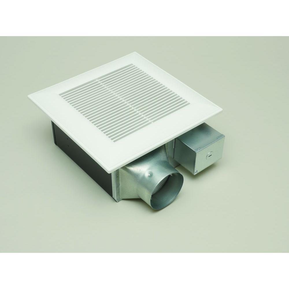 medium resolution of quiet 80 or 110 cfm ceiling low profile dual speed bath fan