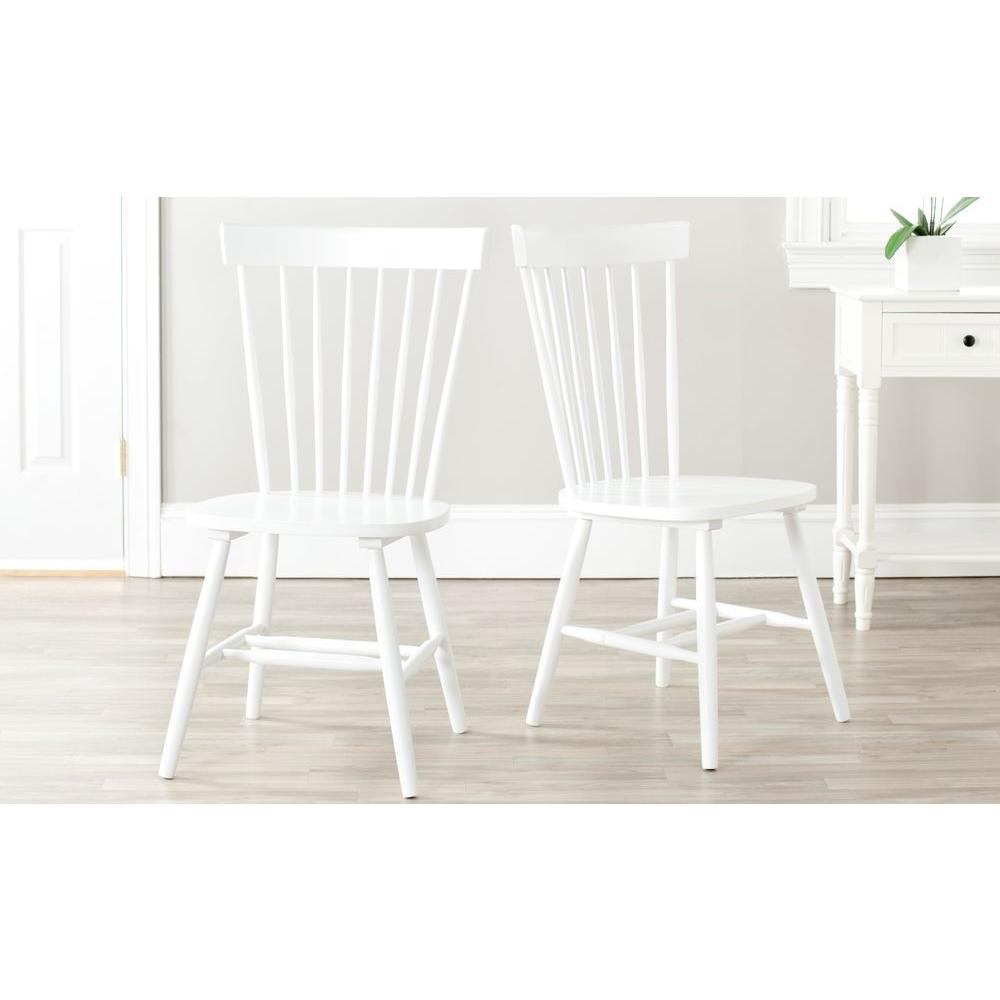 White Wooden Dining Chairs Safavieh Riley White Wood Dining Chair Set Of 2 Amh8500a Set2