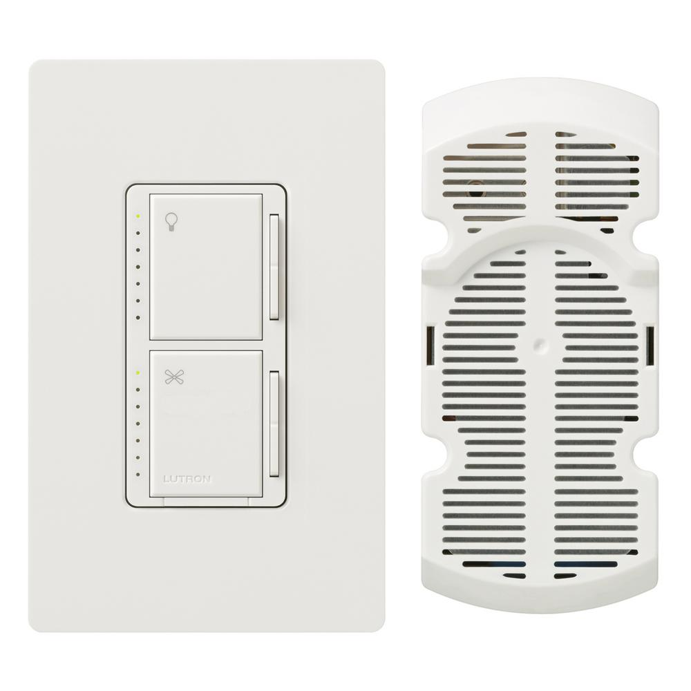 medium resolution of lutron maestro fan control and light dimmer for incandescent and halogen with wallplate single