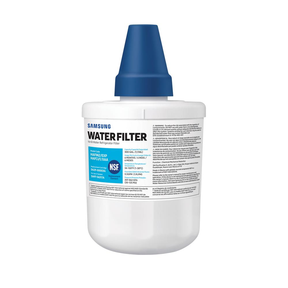 hight resolution of 6 month refrigerator water filter replacement cartridge da29 00003g use with system da97 06317a