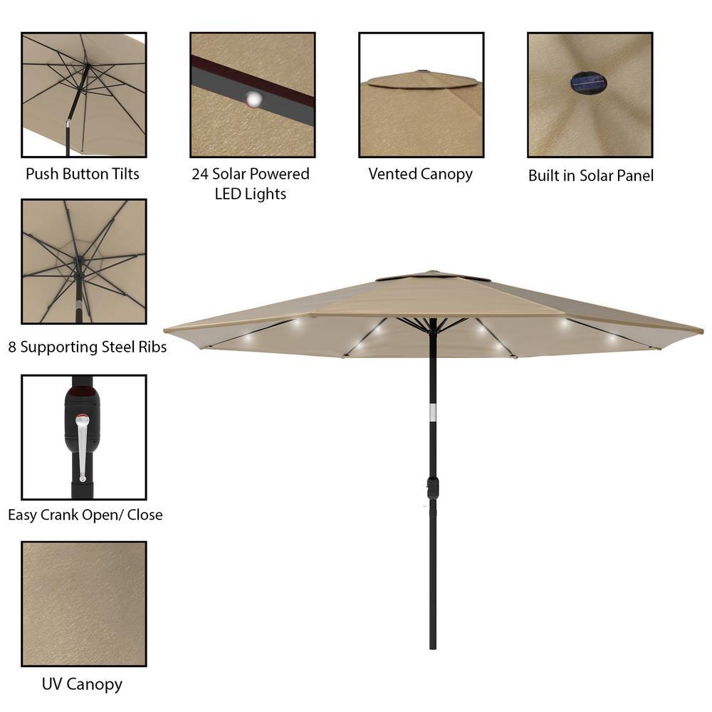 led solar powered patio umbrella string