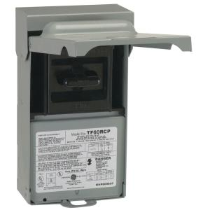 GE 60 Amp 240Volt Fused AC DisconnectTF60RCP  The Home
