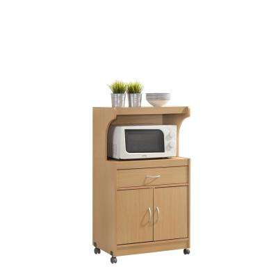 kitchen microwave cart ventilation carts islands utility tables the home depot 1 drawer beech