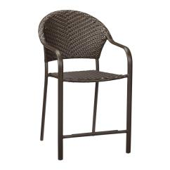 Bistro Chairs Outdoor Chair Covers Walmart Hampton Bay Mix And Match Stackable Balcony Height Wicker Dining In Brown