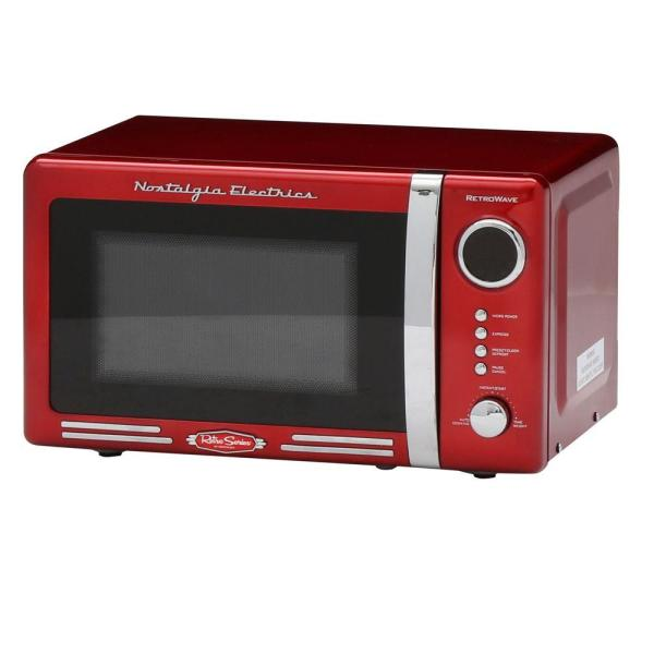Nostalgia Retro Series 0.7 Cu. Ft. Countertop Microwave Oven In Red-rmo770red - Home Depot