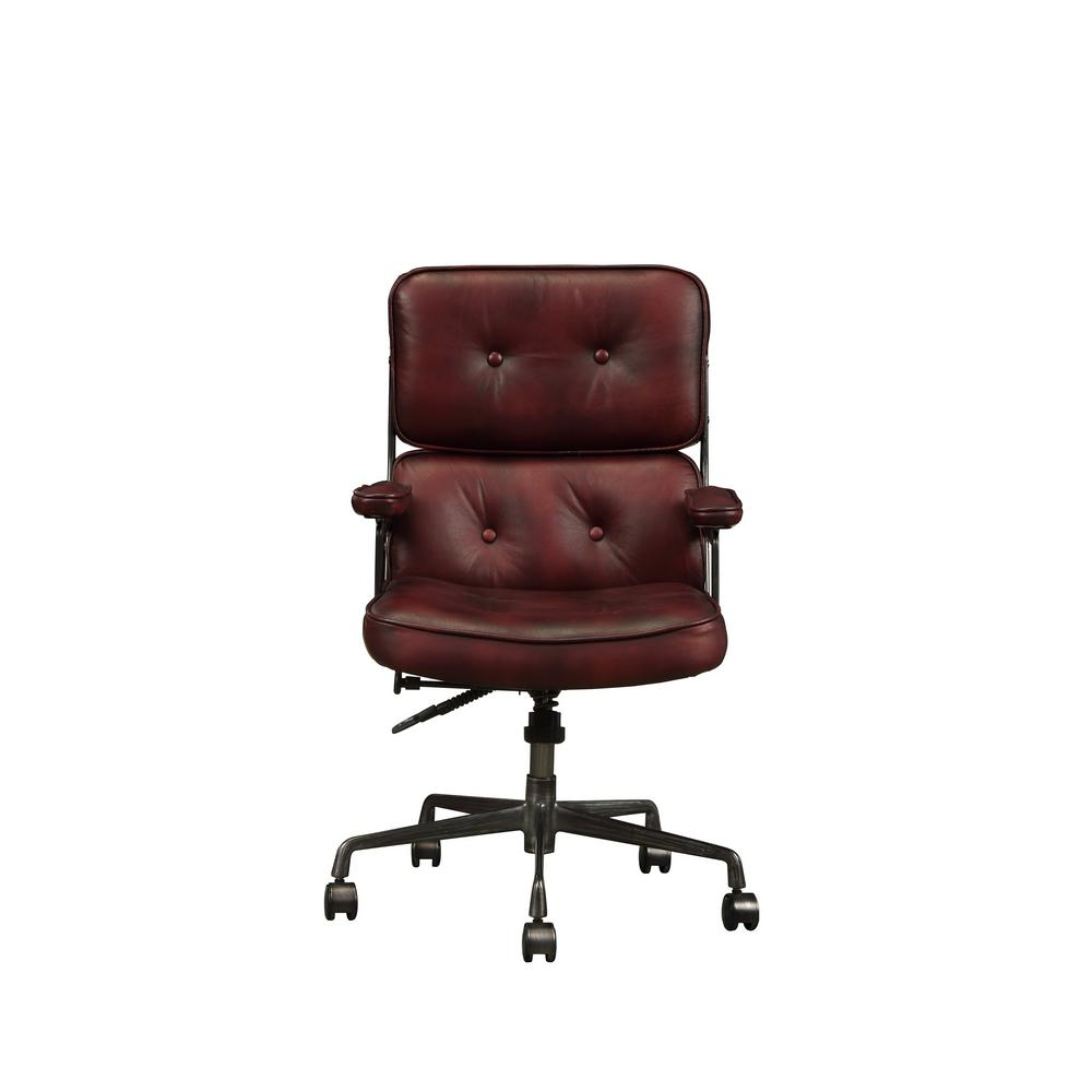 vintage office chairs black dining uk acme furniture larisa merlot top grain leather executive chair