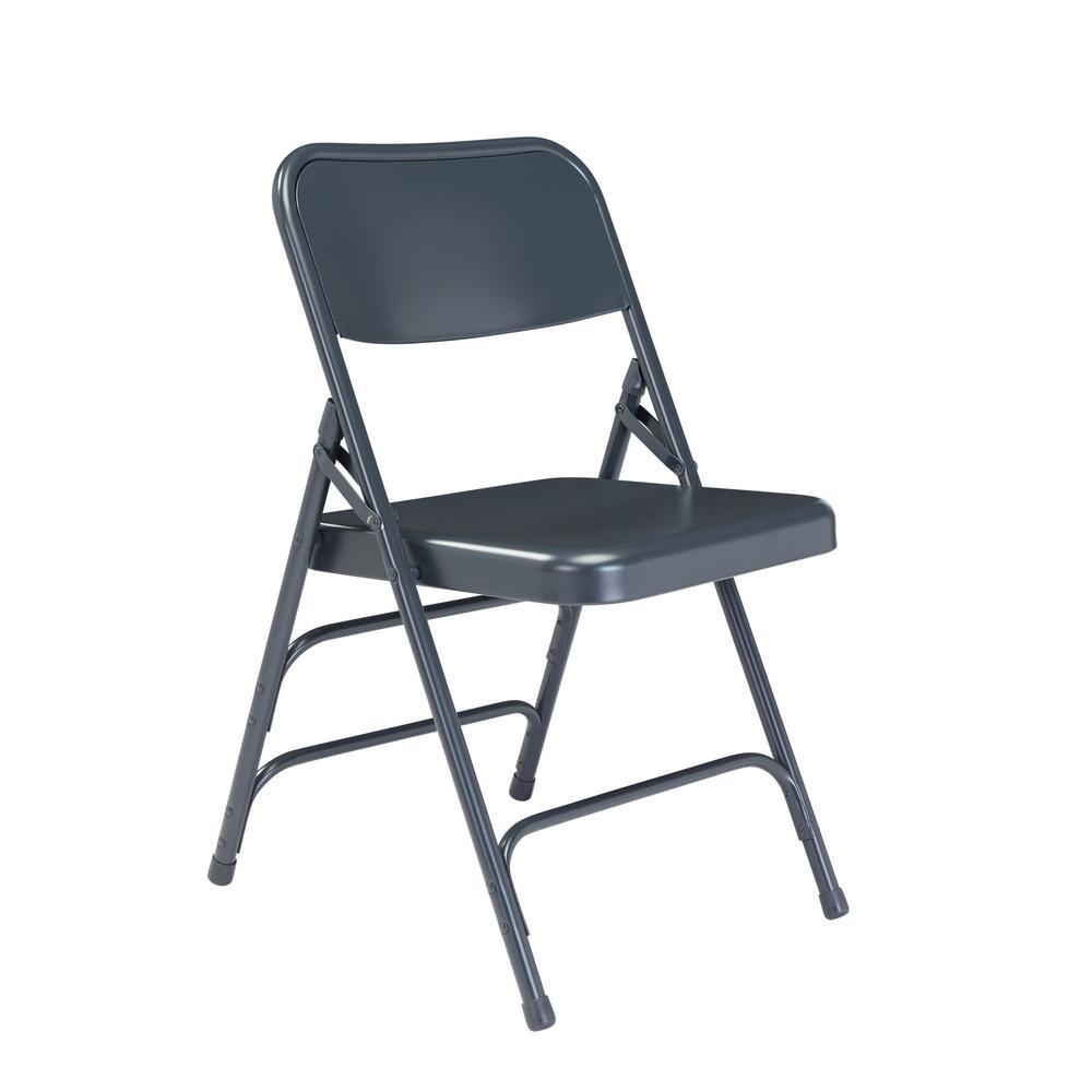 blue metal folding chairs adult bean bag chair tables furniture the nps 300 series premium all steel triple brace