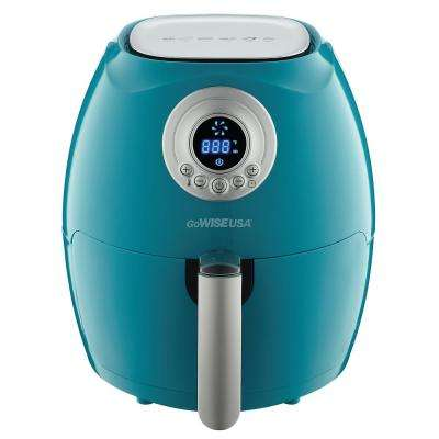 teal kitchen appliances rooster canister sets small the home depot 2 75 qt electric air fryer