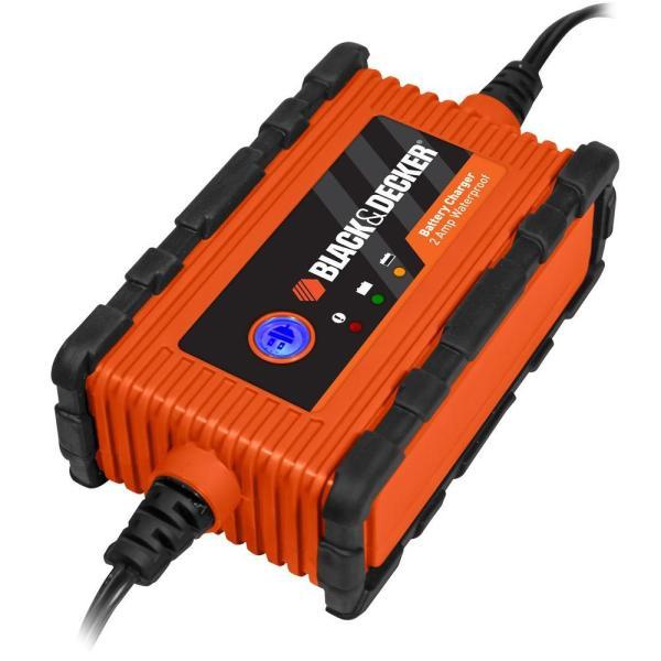 Black Decker 2 Amp Waterproof Battery Maintainer-bc2wbd - Home Depot