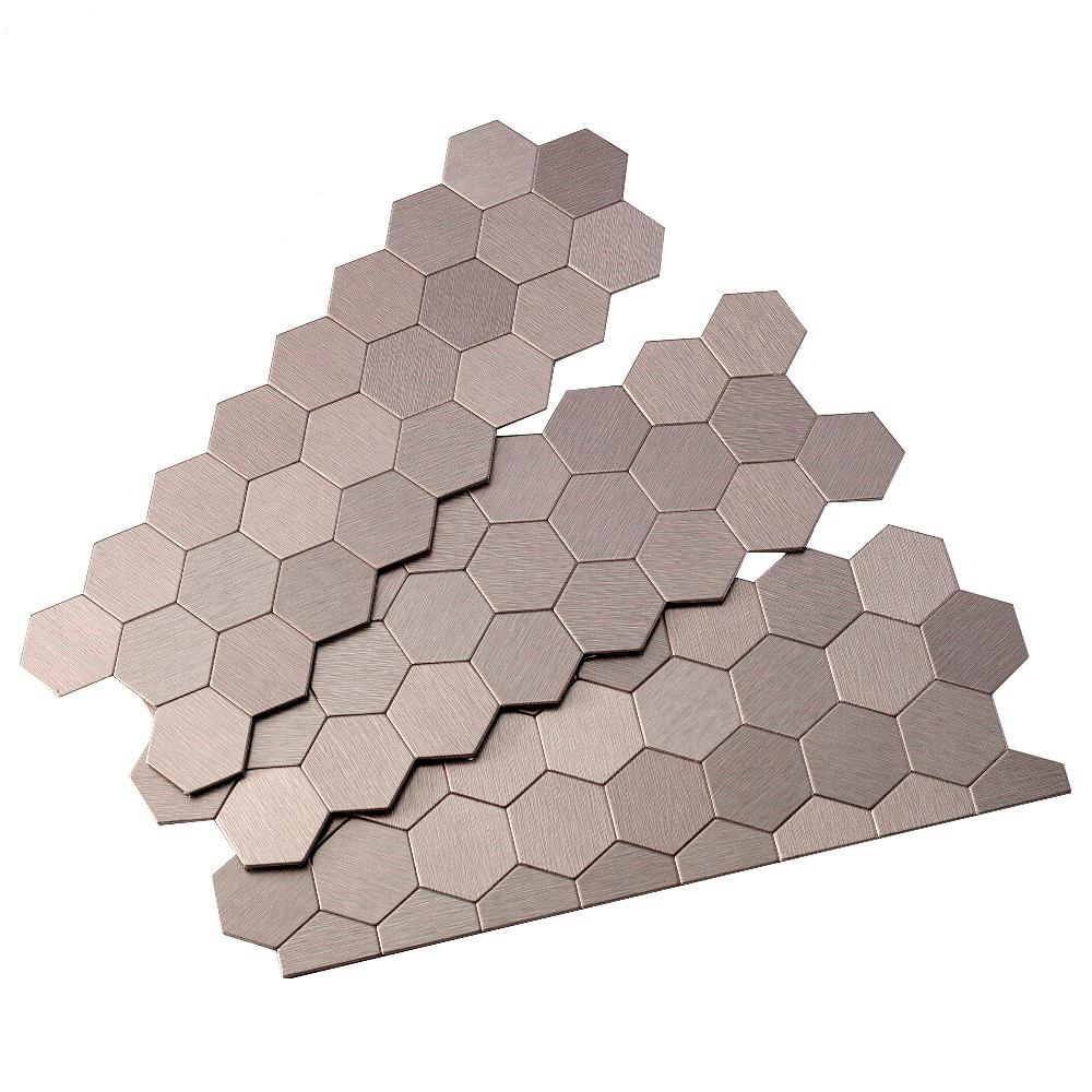 Aspect Honeycomb Matted 4 In X 12 In Metal Decorative