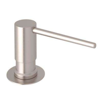 rohl kitchen faucet best brand name appliances faucets the home depot d lux shrouded soap lotion dispenser in satin nickel