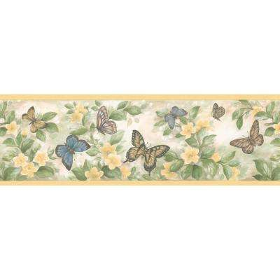 wall paper borders for kitchens center island kitchen table border wallpaper home decor the depot bath bed resource iii butterflies