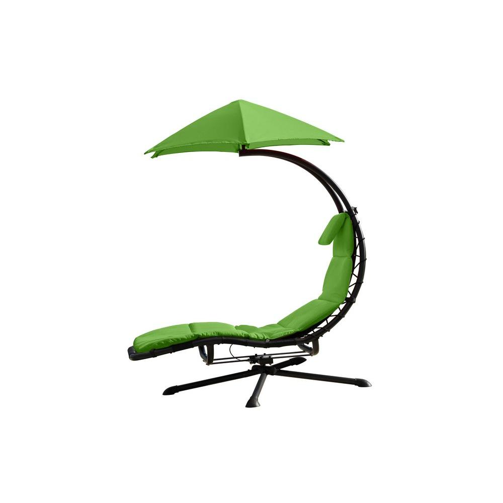 outdoor dream chair deck chairs vivere 360 rotating steel lounge with spun polyester green cushion