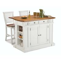 Home Styles Americana White Kitchen Island With Seating ...