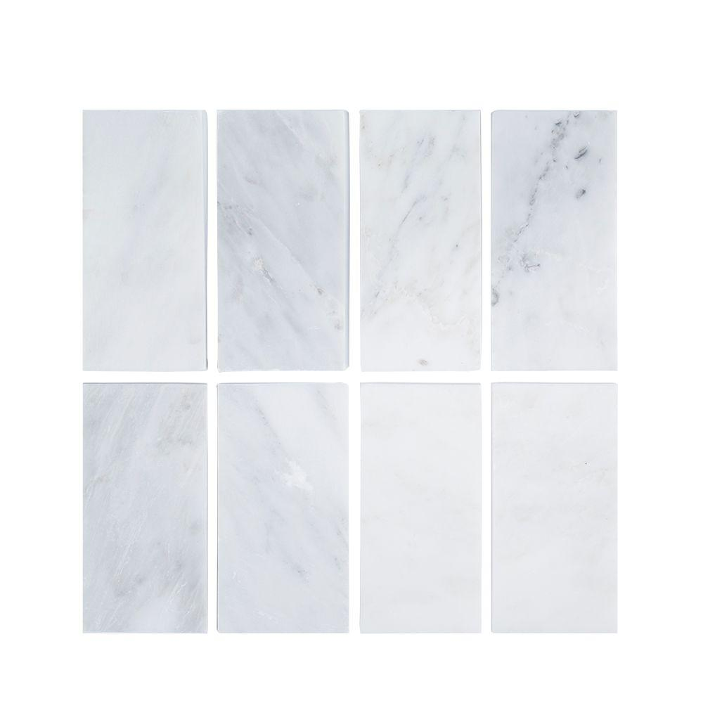 white hollywood style 5 in x 30 in engineered marble threshold floor and wall tile thd2wh5x30shl 203102968
