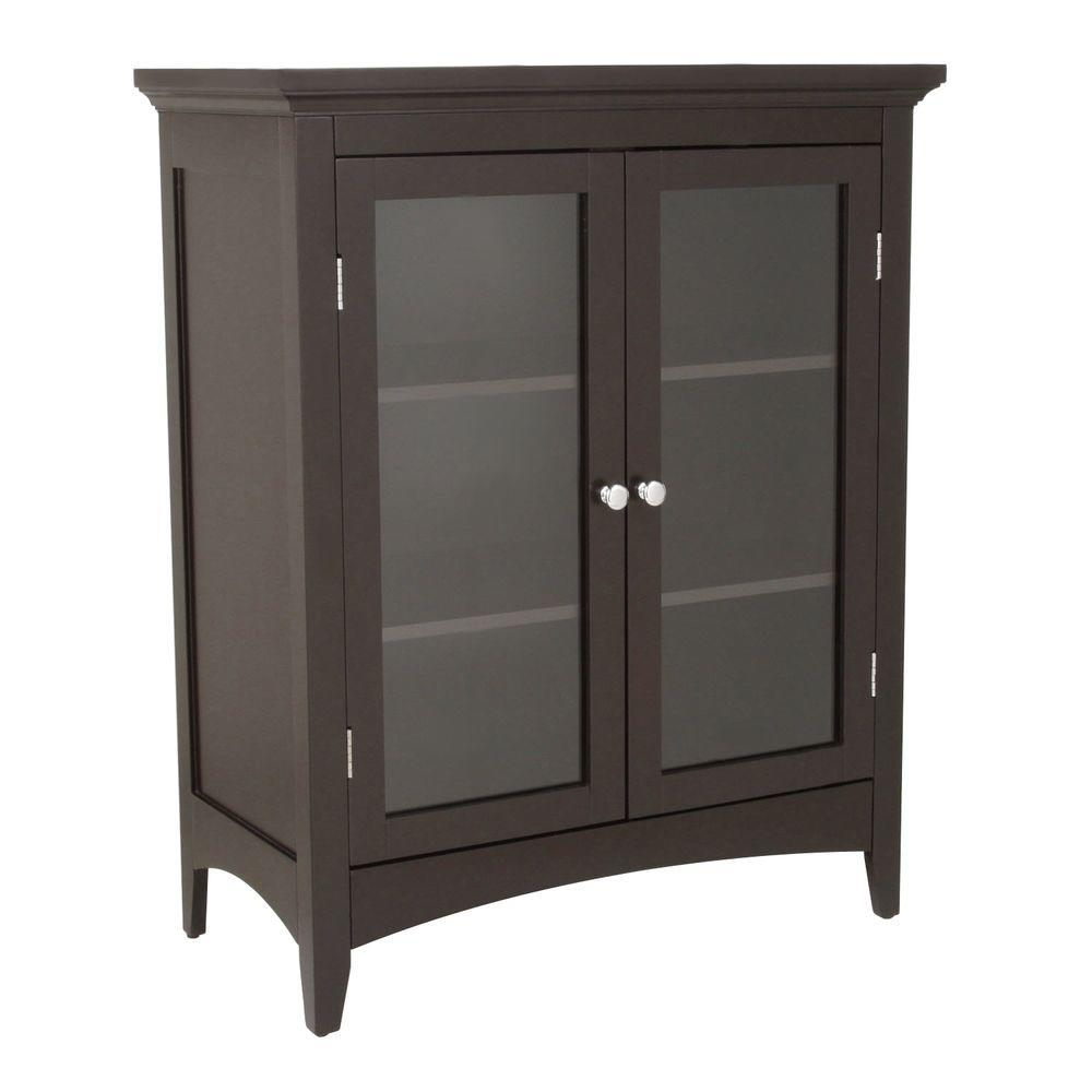 26 inch Door Bathroom Linen Storage Floor Cabinet Wood