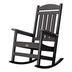 Black Rocking Chairs Hydraulic Chair For Sale Patio The Home Depot Durawood Porch Rocker In