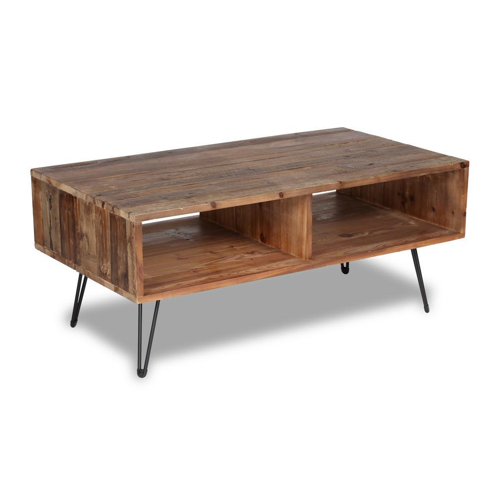 Crawford & Burke Turner Natural Wood Coffee Table