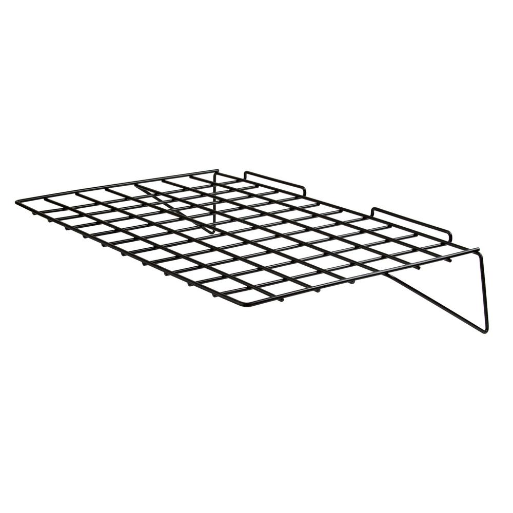 Econoco 24 in. W x 14 in. D Black Straight Wire Shelf